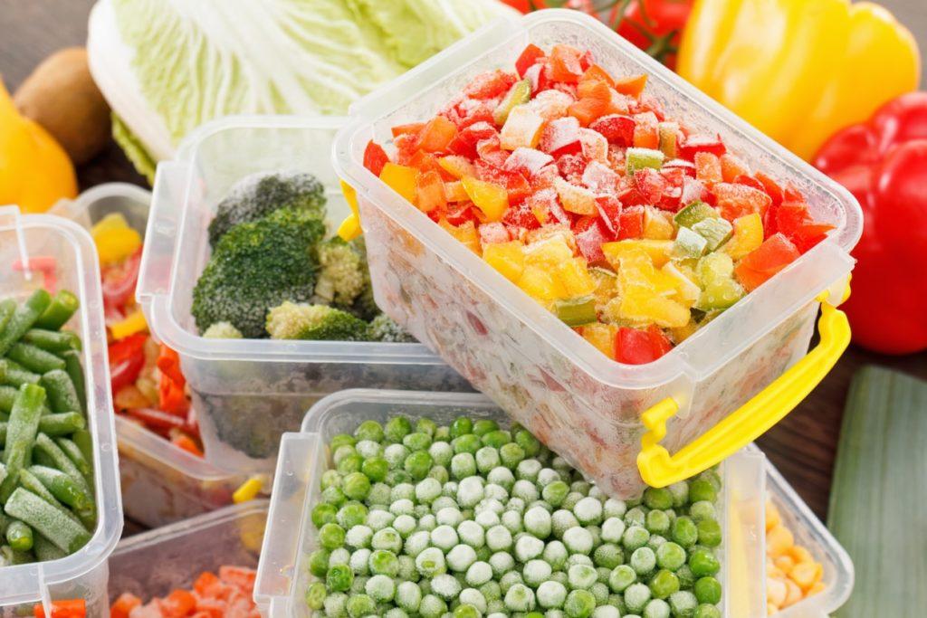 упаковка заморожених овочів