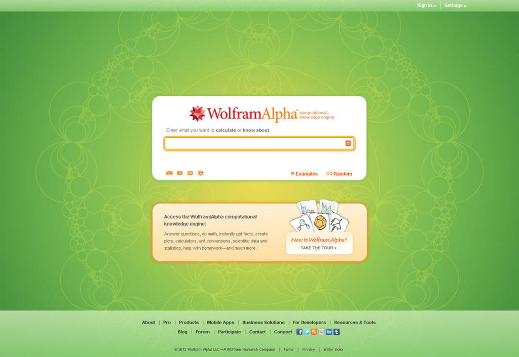 Wolfram | Alpha пошукова система